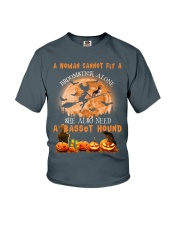 Basset Hound And Broomstick  Youth T-Shirt thumbnail