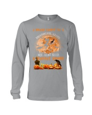 Basset Hound And Broomstick  Long Sleeve Tee thumbnail