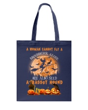 Basset Hound And Broomstick  Tote Bag thumbnail