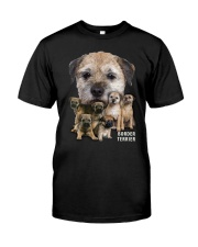Border Terrier Awesome Family 0501 Classic T-Shirt front