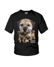 Border Terrier Awesome Family 0501 Youth T-Shirt thumbnail