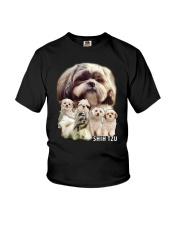 Shih Tzu Awesome Family 0701 Youth T-Shirt thumbnail