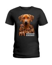 Rhodesian Ridgeback Awesome Family 0701 Ladies T-Shirt thumbnail