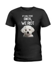 Maltese We riot 150319 Ladies T-Shirt thumbnail