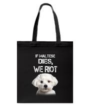 Maltese We riot 150319 Tote Bag thumbnail