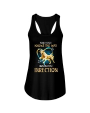 Golden Retriever and heart Ladies Flowy Tank thumbnail