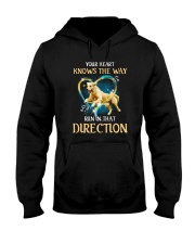 Golden Retriever and heart Hooded Sweatshirt thumbnail