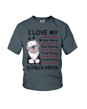 Old English Sheepdog Bed Hogging 3001 Youth T-Shirt tile