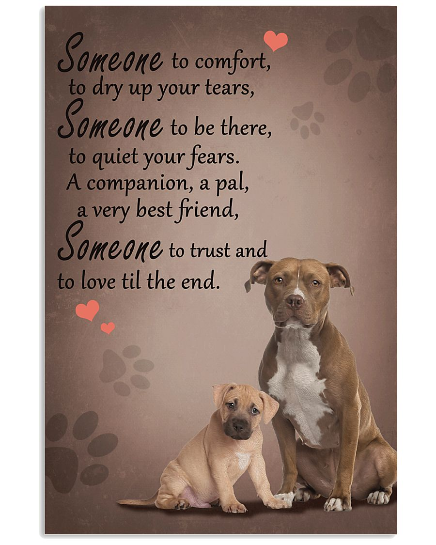 American-Staffordshire-Terrier someone to comfort 11x17 Poster