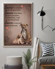 American-Staffordshire-Terrier someone to comfort 11x17 Poster lifestyle-poster-1