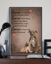 American-Staffordshire-Terrier someone to comfort 11x17 Poster lifestyle-poster-2