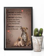American-Staffordshire-Terrier someone to comfort 11x17 Poster lifestyle-poster-8
