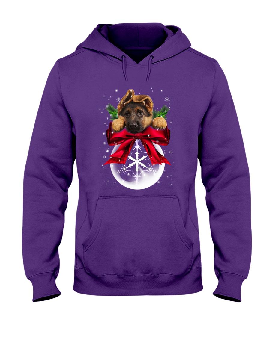 German Shepherd Noel Hooded Sweatshirt