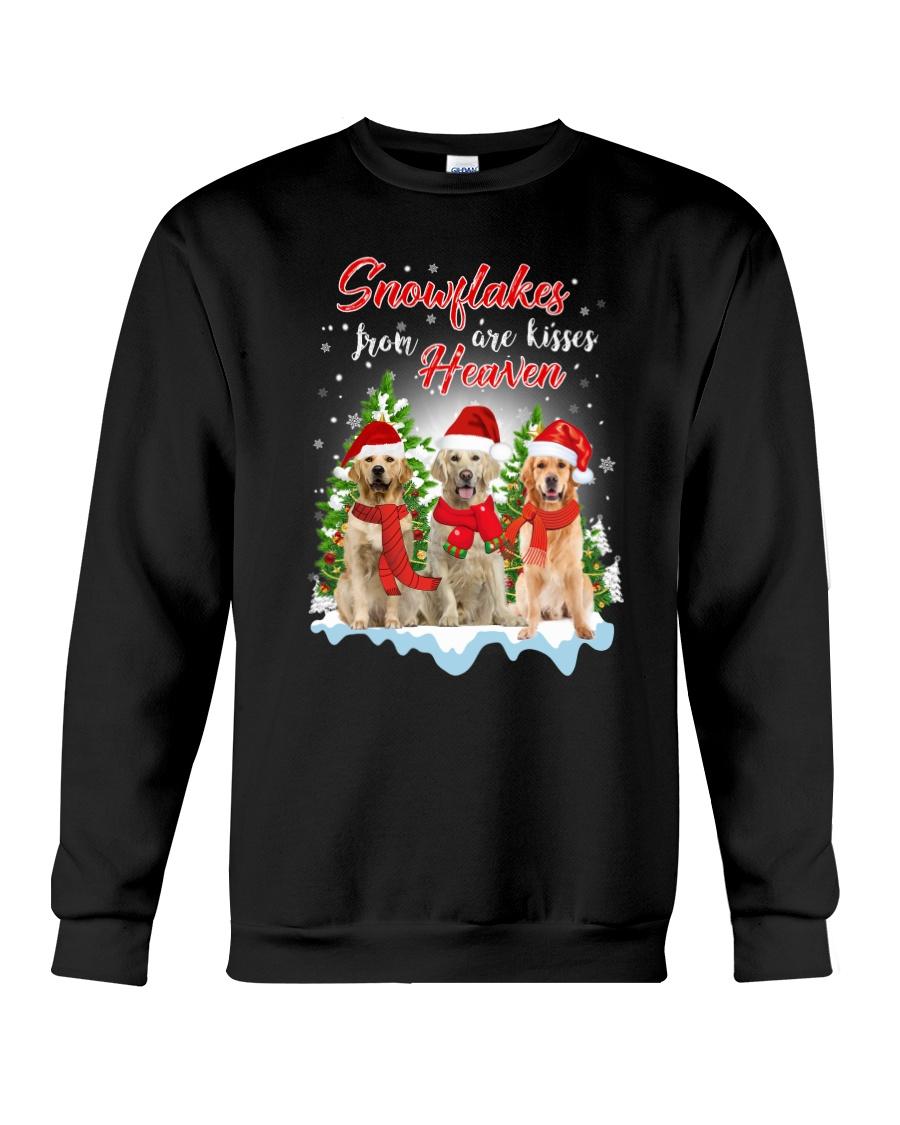 Golden Retriever Snowflakes Are Kisses 0510 Crewneck Sweatshirt