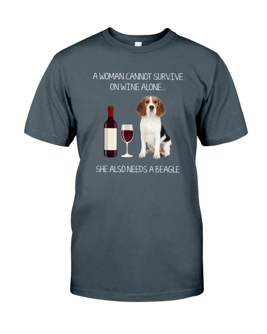 Beagle and Wine Classic T-Shirt