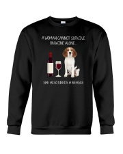 Beagle and Wine Crewneck Sweatshirt thumbnail