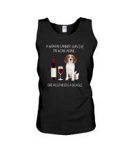 Beagle and Wine Unisex Tank thumbnail
