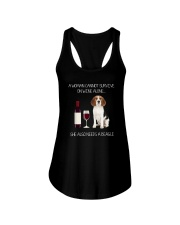 Beagle and Wine Ladies Flowy Tank thumbnail