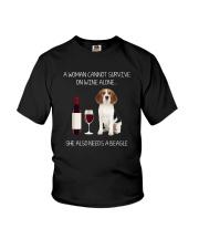 Beagle and Wine Youth T-Shirt thumbnail
