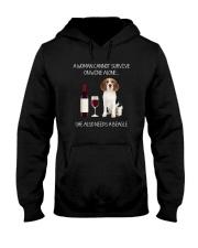 Beagle and Wine Hooded Sweatshirt thumbnail