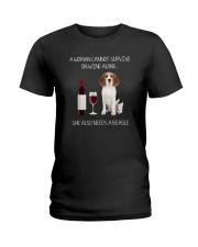 Beagle and Wine Ladies T-Shirt thumbnail