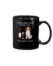 Beagle and Wine Mug thumbnail