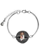 Smooth Fox Terrier Striped New Metallic Circle Bracelet thumbnail