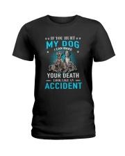 Great Dane Accident Ladies T-Shirt thumbnail
