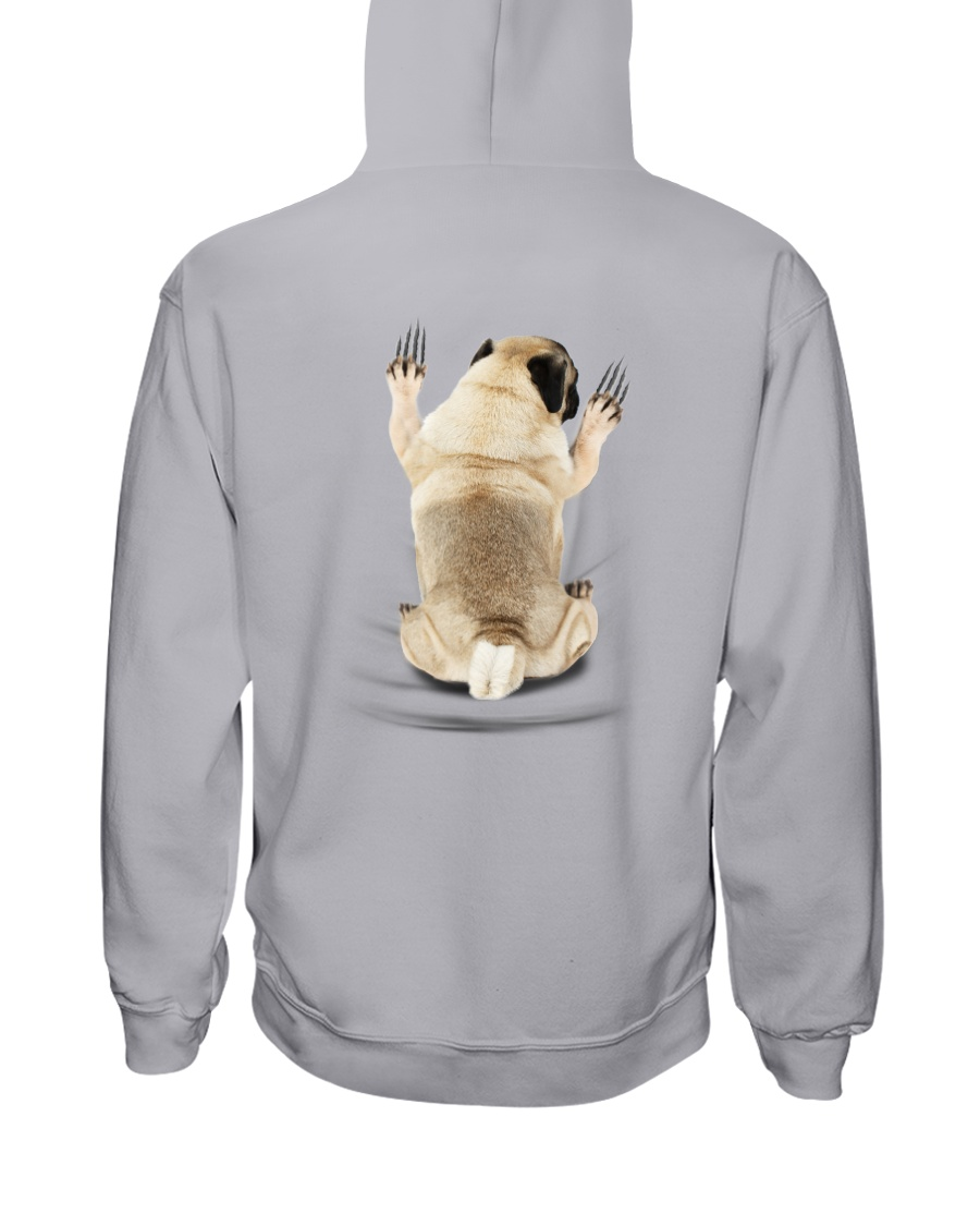 Pug Climbing Hooded Sweatshirt