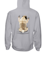 Pug Climbing Hooded Sweatshirt back