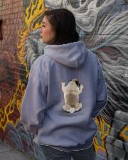 Pug Climbing Hooded Sweatshirt lifestyle-unisex-hoodie-back-1
