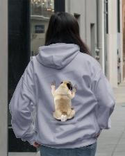 Pug Climbing Hooded Sweatshirt lifestyle-unisex-hoodie-back-2