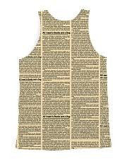 Bulldog and books 1311 All-over Unisex Tank back