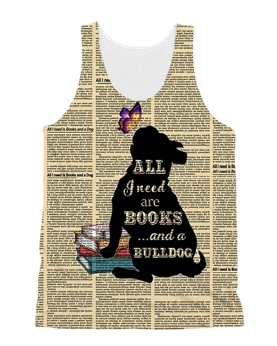 Bulldog and books 1311 All-over Unisex Tank