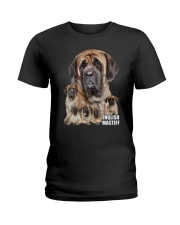 English Mastiff Awesome Family 0701 Ladies T-Shirt thumbnail