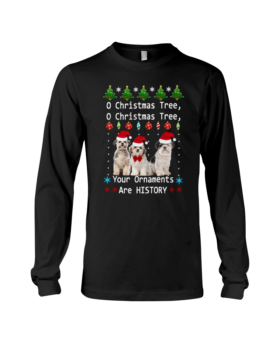 O Christmas Tree Shih Tzu Long Sleeve Tee