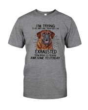 Mastiff trying to be awesome 180319  Classic T-Shirt front