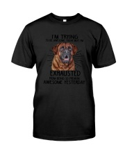 Mastiff trying to be awesome 180319  Classic T-Shirt tile