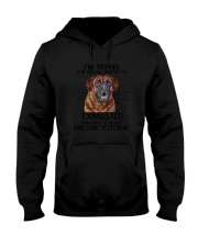 Mastiff trying to be awesome 180319  Hooded Sweatshirt thumbnail