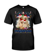 Golden Retriever Family Xmas 0210 Classic T-Shirt thumbnail