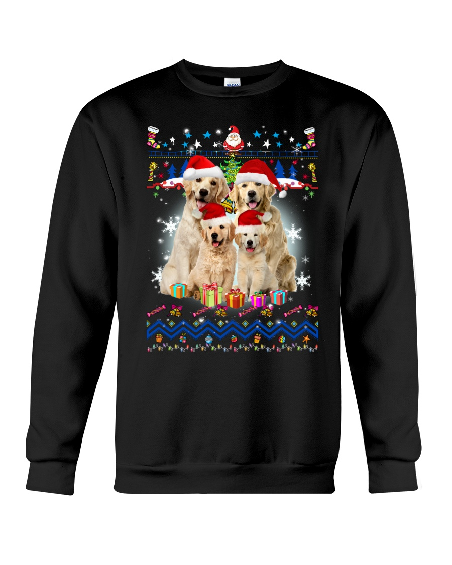 Golden Retriever Family Xmas 0210 Crewneck Sweatshirt