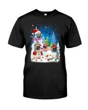 Pug Snowman 0809 Classic T-Shirt thumbnail