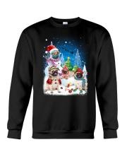 Pug Snowman 0809 Crewneck Sweatshirt thumbnail