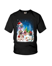 Pug Snowman 0809 Youth T-Shirt thumbnail