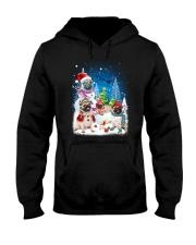 Pug Snowman 0809 Hooded Sweatshirt front