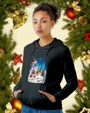 Pug Snowman 0809 Hooded Sweatshirt lifestyle-holiday-hoodie-front-4
