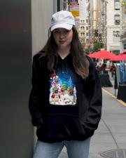 Pug Snowman 0809 Hooded Sweatshirt lifestyle-unisex-hoodie-front-5