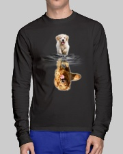GAEA - Golden Retriever Dream New - 0908 - 1 Long Sleeve Tee lifestyle-unisex-longsleeve-front-1