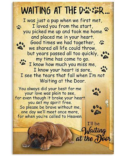 Dogue de Bordeaux Waiting At The Door Poster 2301