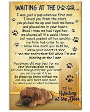 Dogue de Bordeaux Waiting At The Door Poster 2301 11x17 Poster front